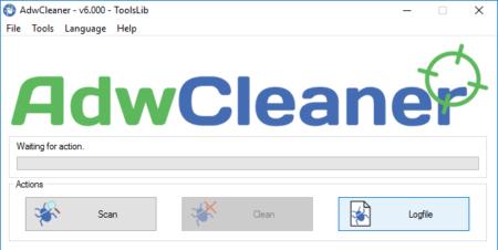 Adwclearner supprime les spams, les publicités en scannant votre PC
