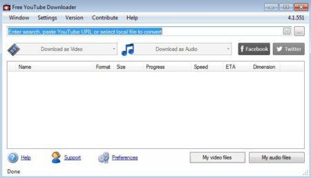 Free YouTube Downloader est facile à manipuler