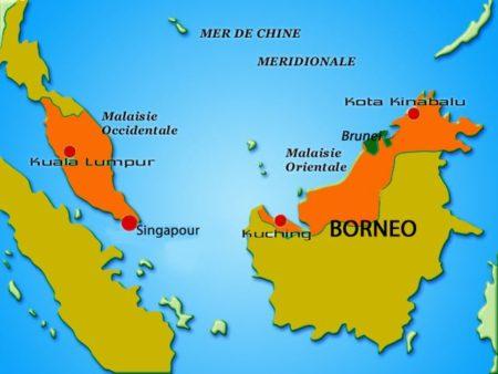 C'est dans l'île de Bornéo qu'un groupe appelé Barito parle la langue austronésienne