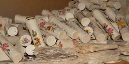 De jolies boites de rangements, dérivées du papier antemoro