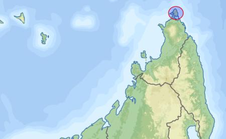 La pointe de Madagascar, là où se trouve le cap d'Ambre