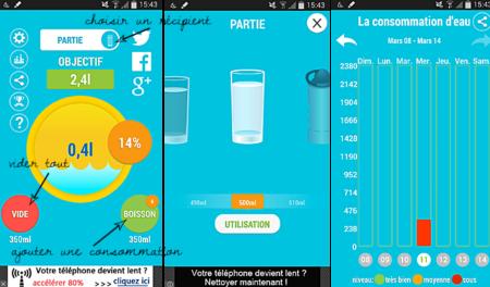 Il y a déjà plusieurs applications qui rappellent la consommation d'eau