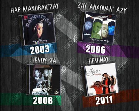 Les années ont fait succéder les albums du groupe Raboussa