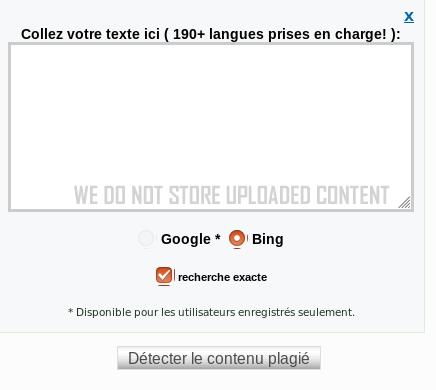 Plus de 190 langues sont détectées par Plagiarisma