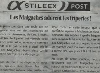 Les Malgaches adorent les friperies! -Titre du journal Jejoo du 11 Juillet 2019