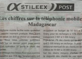 Les chiffres sur la téléphonie mobile à Madagascar – Titre du journal Jejoo du 25 juillet 2019