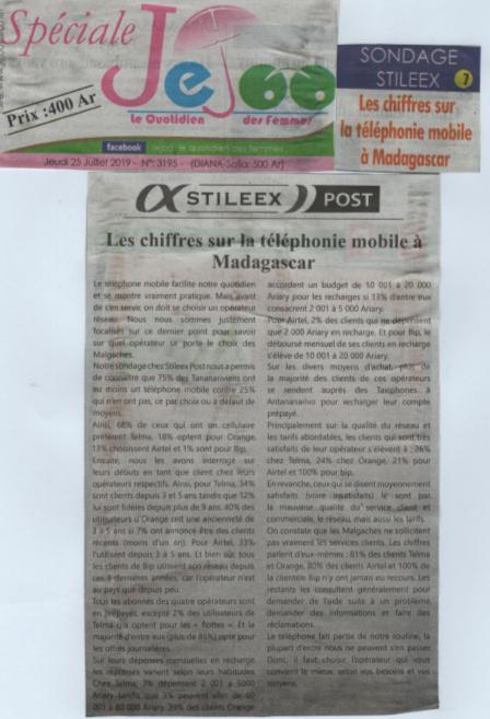 Les chiffres sur la téléphonie mobile à Madagascar
