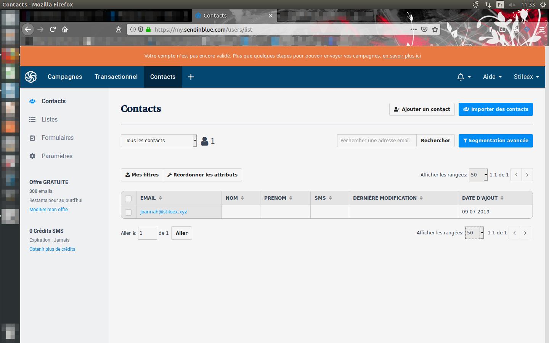 Comme vous pouvez le voir, vos contacts seront répertoriés de manière claire et simple