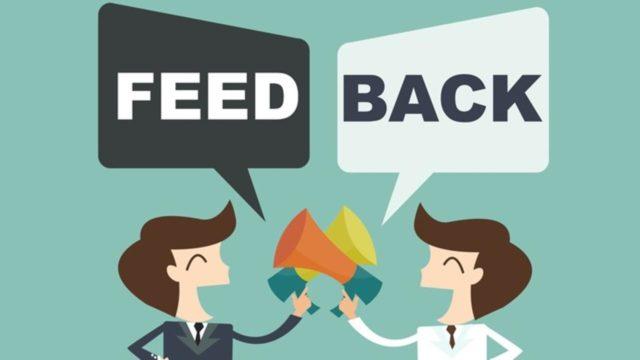Le feed-back est l'action de renvoyer l'information ou le message à l'émetteur initial
