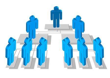 L'organigramme hiérarchique est mis en place par le responsable