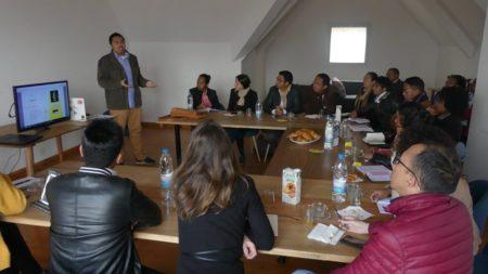 Anthony Michel, présentant son projet Ulyss lors du coaching FrenchTech