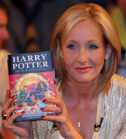 J.K. Rowling, the woman who gave birth to this superb saga