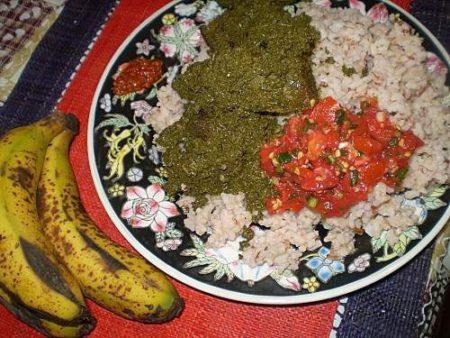 Le succulent riz au ravitoto sy henan-kisoa
