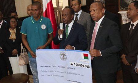 Le régime Malgache encourage les Barea de Madagascar depuis la qualification en phase finale en 2017 de la CAN 2019
