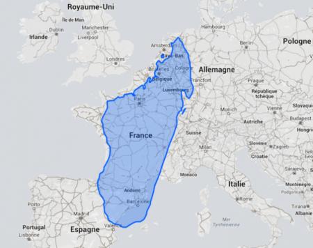 Madagascar a quand même une taille vraiment imposante