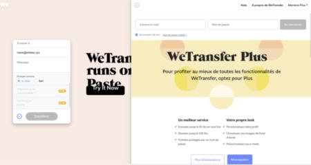 Wetransfer Plus para más funciones