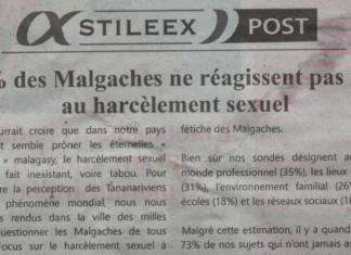 75% des malgaches ne réagissent pas face au harcèlement sexuel - Titre du journal jejoo du 01 août 2019