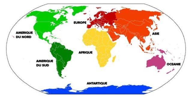 Les 7 continents du monde