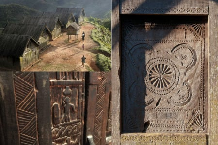 Maisons, meubles, volets, rien n'est laissé au hasard par les sculpteurs Zafimaniry
