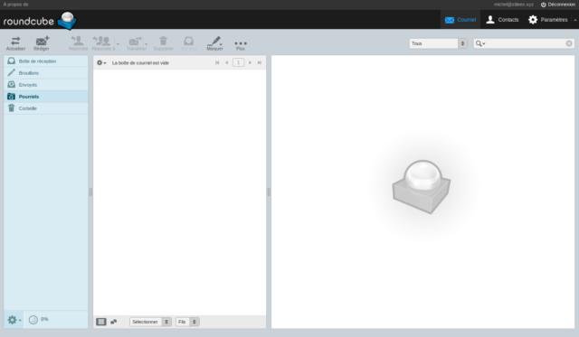 La simplicité du logiciel de messagerie Roundcube est son point fort mais également son désavantage