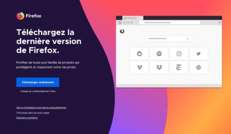 Le site du logiciel libre Mozilla Firefox