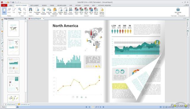 Capture vidéo sur le site de Soda PDF, un des meilleurs lecteurs PDF