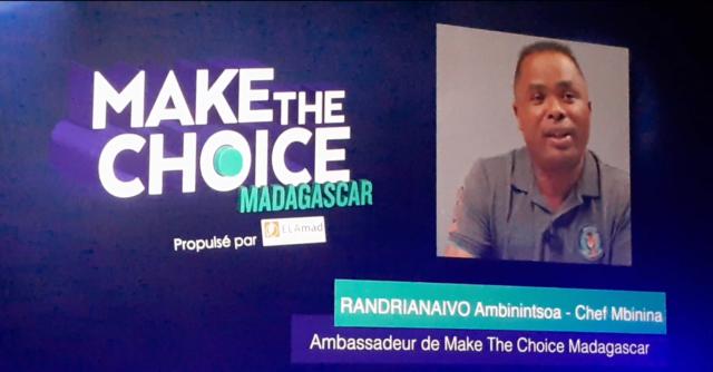 Chef Mbinina, ambassadeur de Make The Choice Madagascar