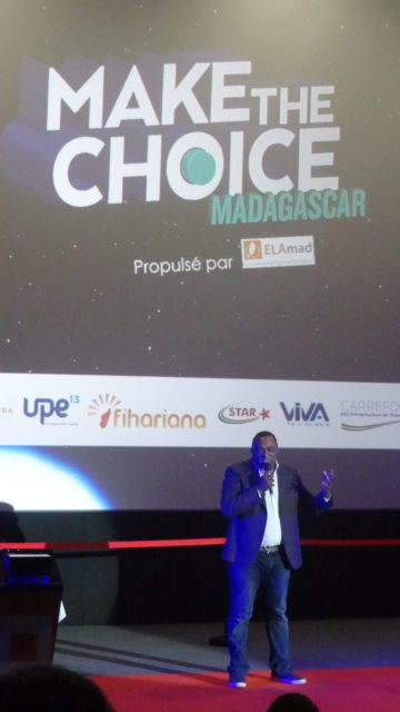 Simon Gomis qui nous présente Make The Choice Madagascar