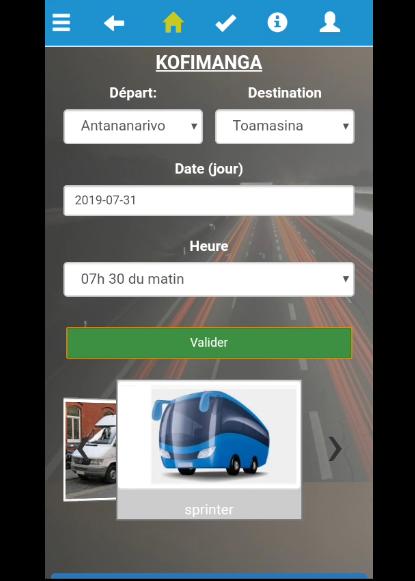 Sélectionner un véhicule