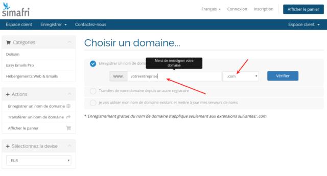 Choix du nom de domaine pour vos adresses email professionnelles