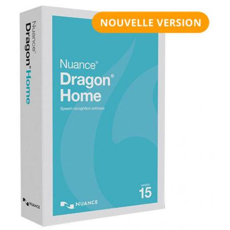 Le boîtier de Dragon Home 15, la dernière version du logiciel de reconnaissance vocale payant