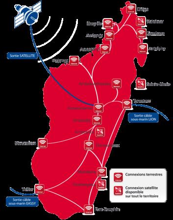 Couverture réseau Blueline à Madagascar