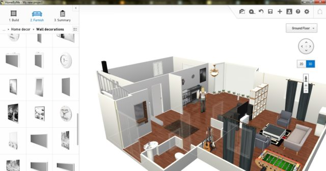 HomeByMe, Software pro architekturu