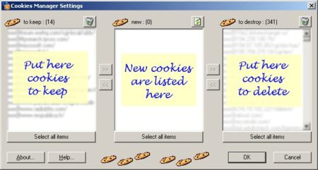 Cookies Manager je zcela zdarma anti-cookie software