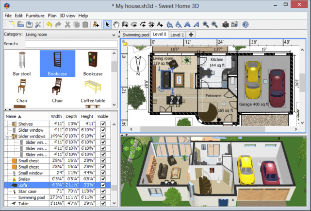 Sweet Home 3D, Open Source Architecture Software