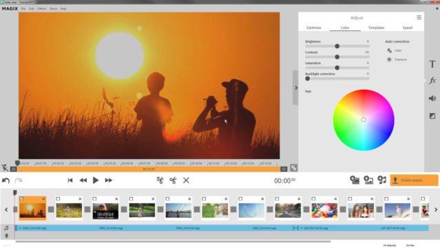 Rozhraní Video Easy, software pro editaci videa