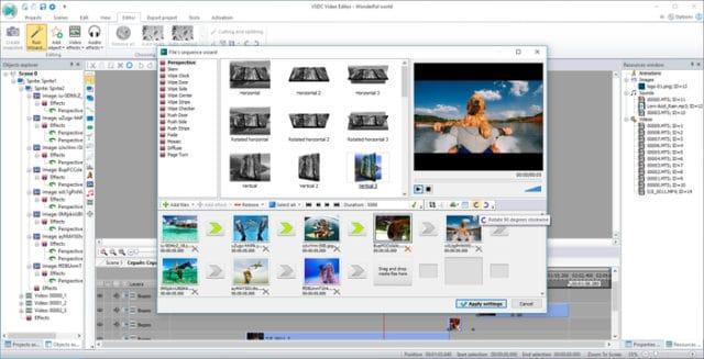 Rozhraní Free Video Editor VSDC