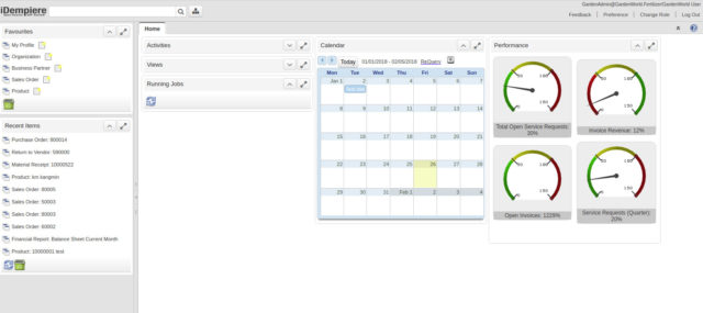 Snímek obrazovky IDempiere