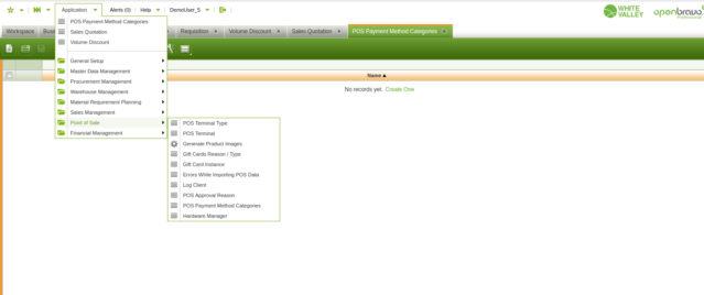 Snímek obrazovky Openbravo