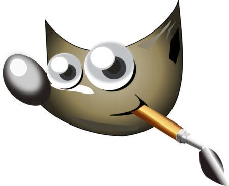 Rozpoznáváme GIMP tím, že jeho vlčí hlava drží v ústech kartáč