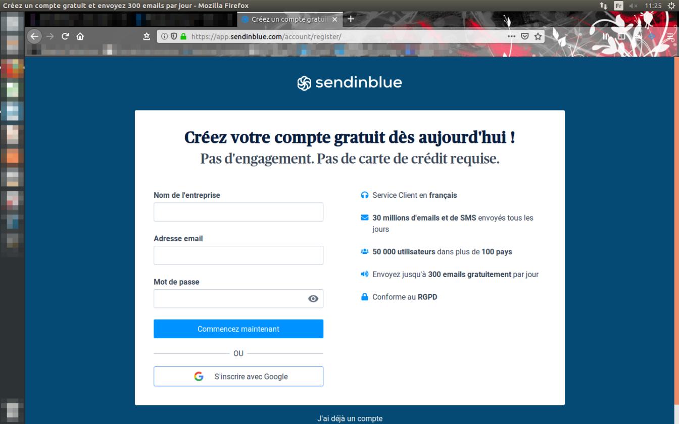 El primer paso para entrar en el mundo de Sendinblue, tu futuro software de correo electrónico.