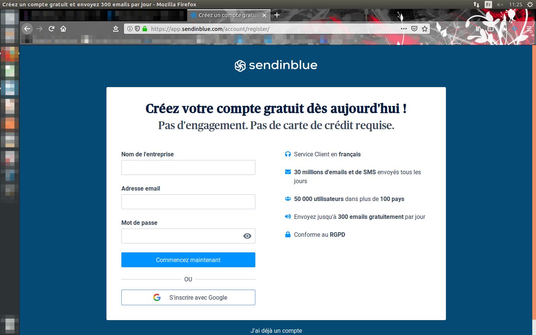 První krok k vstupu do světa Sendinblue, vašeho budoucího e-mailového softwaru