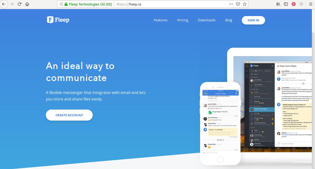 Fleep, mezi software, který může sloužit jako alternativy k Slack