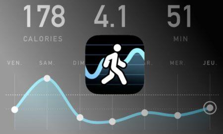 Esta aplicación permite contar los pasos dados así como las calorías perdidas durante el día.