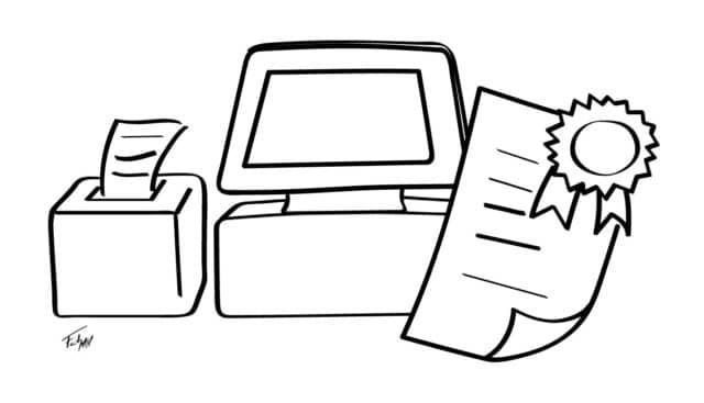 El comerciante debe tener un documento que certifique la certificación NF525 del software.