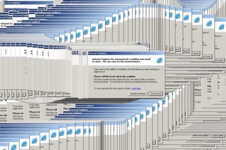 Závažná chyba aplikace Internet Explorer