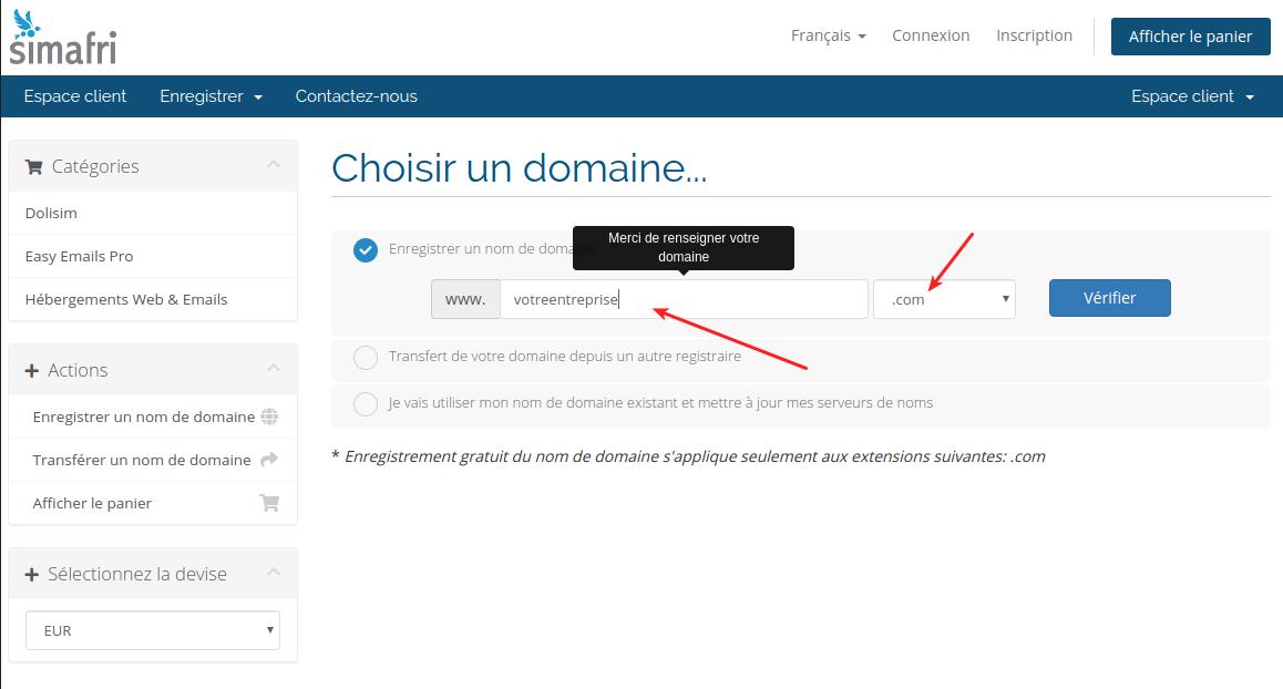 Výběr názvu domény pro vaše profesionální e-mailové adresy