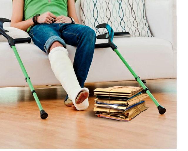 En cas d'accident de travail, le congé peut durer pendant toute la convalescence de l'employé