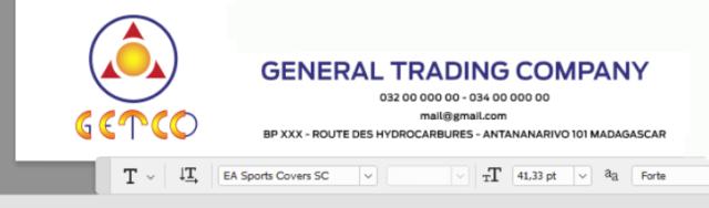 A nyní jsme dokončili uvedení loga společnosti a kontaktních údajů