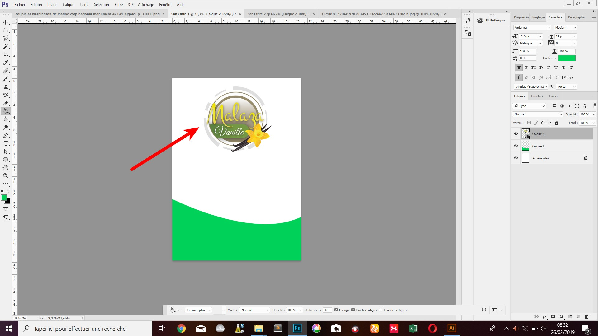 Je to dobré, zvýraznili jsme logo produktu (jako připomínka vanilky)